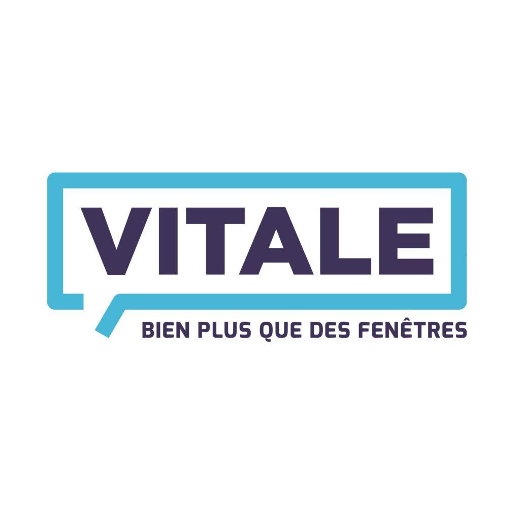 Le logo des fenêtres Vitale à Mulhouse. Une création de l'agence Mars Rouge.