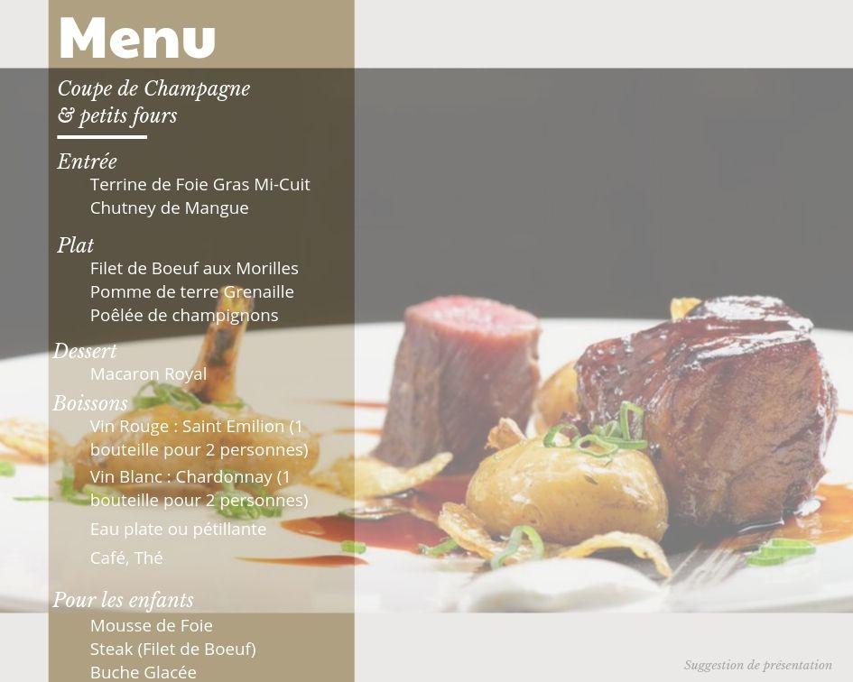 Restaurant ouvert le 24 decembre